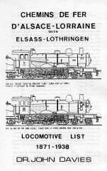 LOCOMOTIVE LIST 1871 - 1938